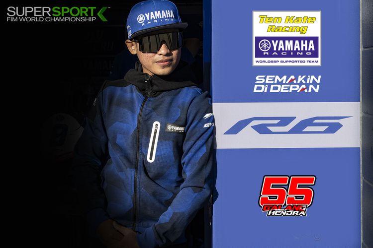 Pebalap asal Indonesia yang akan berkompetisi di World Supersport musim 2021, Galang Hendra Pratama.