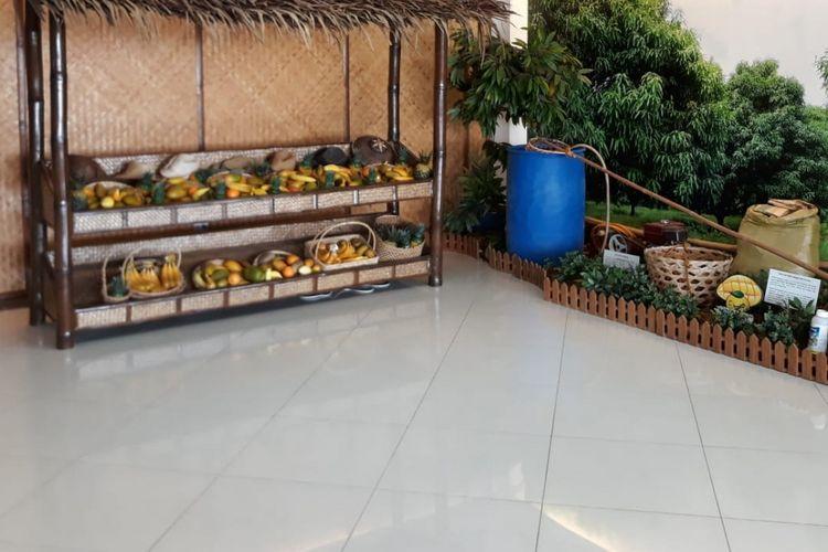 Museum mangga kering yang diproduksi Profood di Cebu, Filipina.