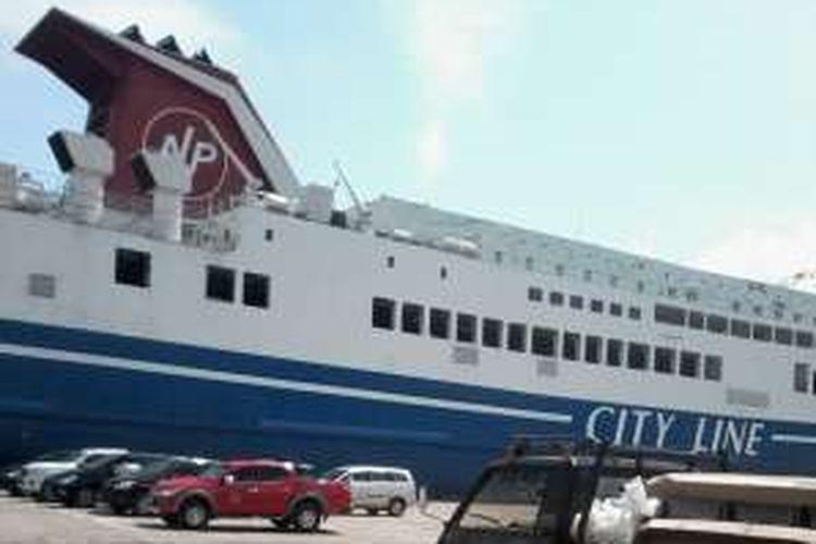 KM Mutiara sentosa III siap angkut penumpang mudik Lebaran 2016 yang beroperasi di Pelabuhan Panjang.