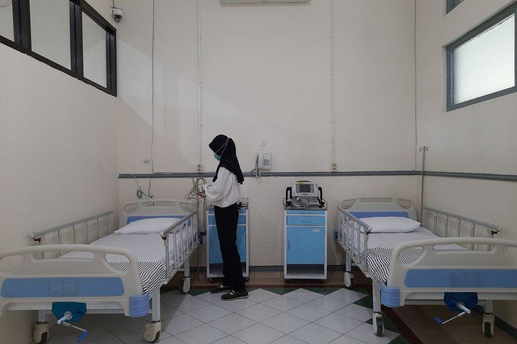 Kondisi tempat tidur di RS Lapangan Ijen Boulevard Kota Malang sesaat usai diresmikan pada 16 Desember 2020 lalu.