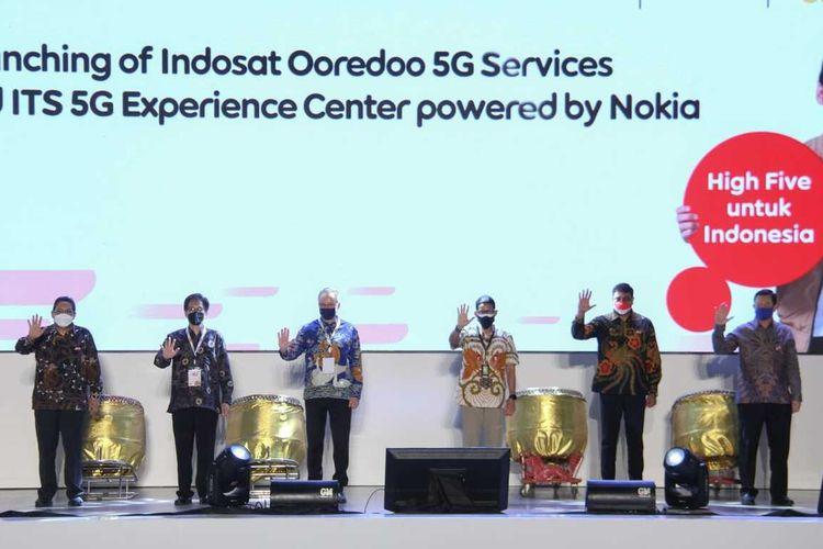 Peresmian 5G Experience Center di kampus ITS Surabaya.