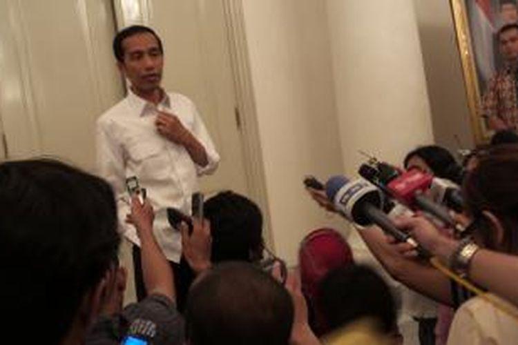 Gubernur DKI Jakarta dan presiden terpilih Joko Widodo