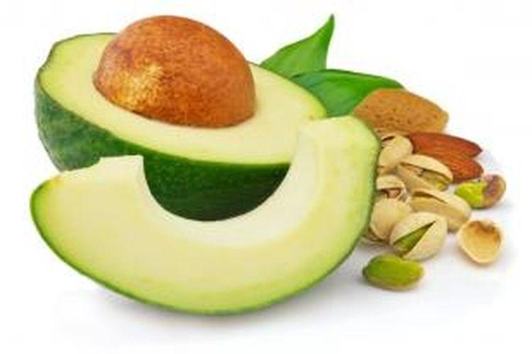 Contoh sumber lemak sehat.