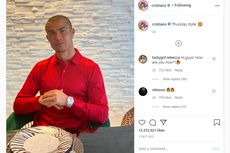 Jalani Karantina di Rumah, Cristiano Ronaldo Cukur Habis Rambutnya