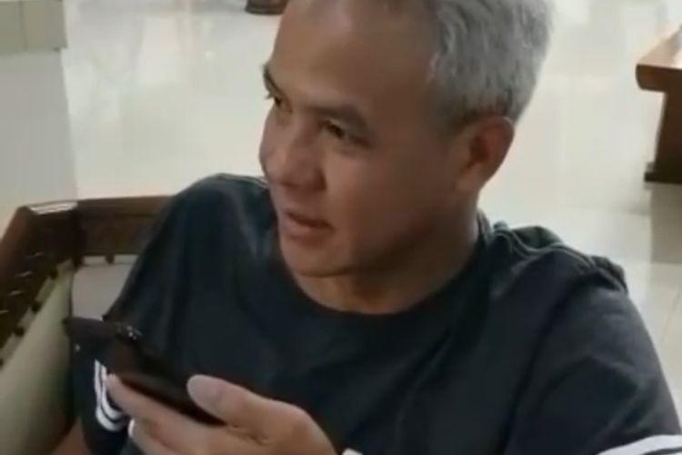 Tangkapan layar saat Gubernur Jawa Tengah menelepon Handoko