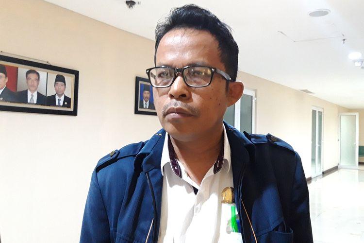 Anggota DPRD DKI Jakarta Fraksi PSI August Hamonangan saat ditemui di lantai 3, gedung DPRD DKI, Kamis (12/9/2019)