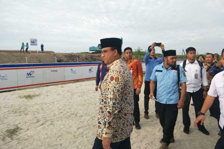 Gubernur DKI Jakarta Anies Baswedan di Taman Impian Jaya Ancol, Rabu (25/2/2020)