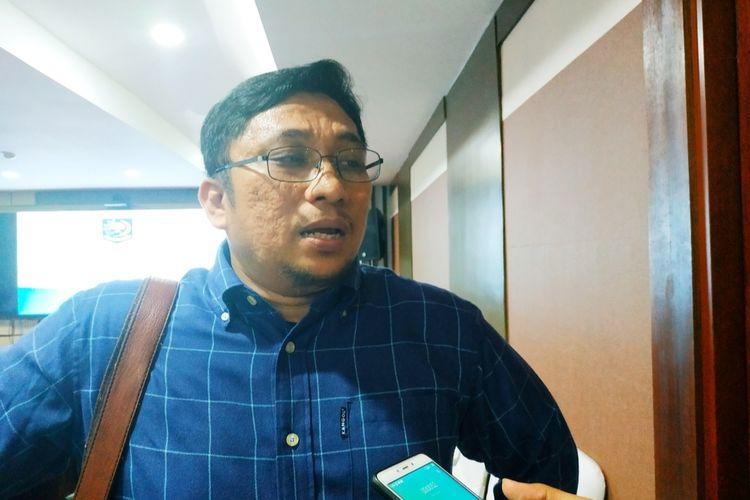 Direktur Eksekutif Pusat Studi Konstitusi (Pusako) Universitas Andalas Feri Amsari di Kantor Kemendagri, Jakarta Pusat,Rabu (19/2/2020).