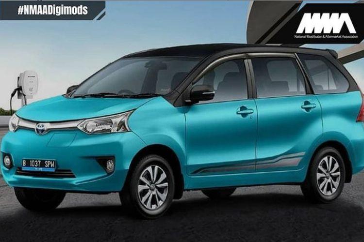 Screen capture modifikasi digital Toyota Avanza EV