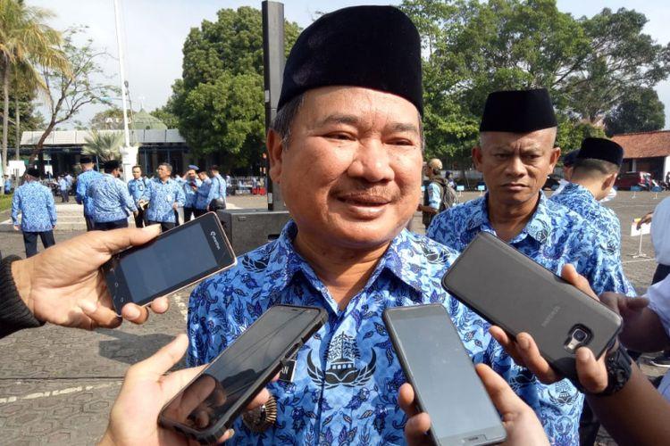 Bupati Garut Rudy Gunawan usai mengikuti upacara Hari Kebangkitan Nasional, Sabtu (20/5/2019).
