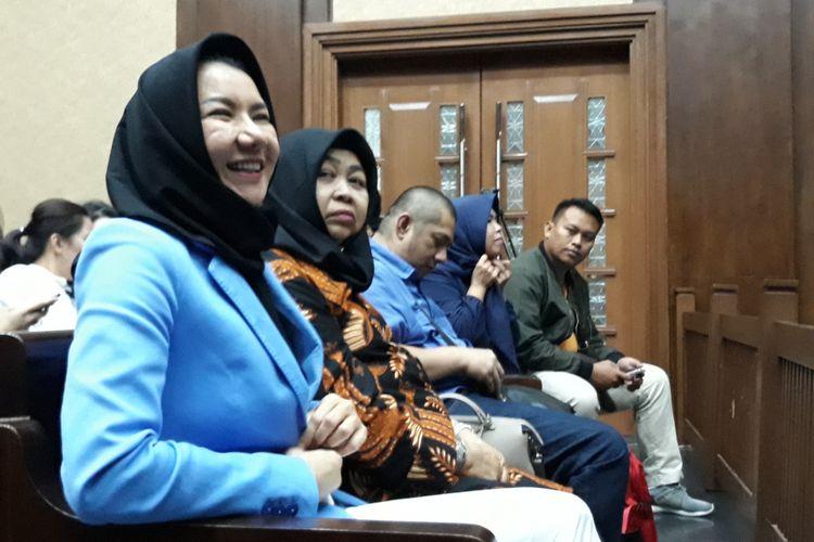 Bupati nonaktif Kutai Kartanegara Rita Widyasari di Pengadilan Tipikor Jakarta, Jumat (6/7/2018).