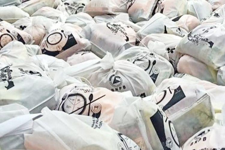 Foto viral bantuan BNPB diduga untuk Pilkada Surabaya