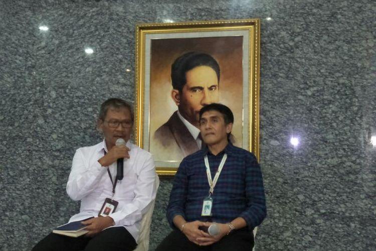 Juru Bicara Pemerintah untuk Virus Corona Achmad Yurianto, di Kementerian Kesehatan, Jakarta, Rabu (4/3/2020)