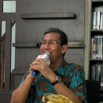 Pakar psikologi politik dari Universitas Indonesia (UI) Hamdi Muluk dalam sebuah diskusi di kantor Populi Center, Jakarta Barat, Kamis (15/11/2018).