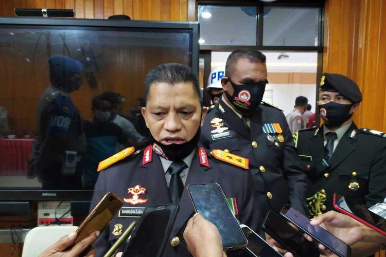 Kapolda Maluku, Irjen Pol Baharudin Djafar saat memberikan ketrnagan kepada waratwan di kantor Polda Maluku, Rabu (1/7/2020)