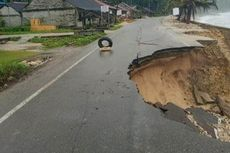 Jalan di Nias Selatan Ambles Diterjang Ombak, Akses ke 3 Daerah Terputus