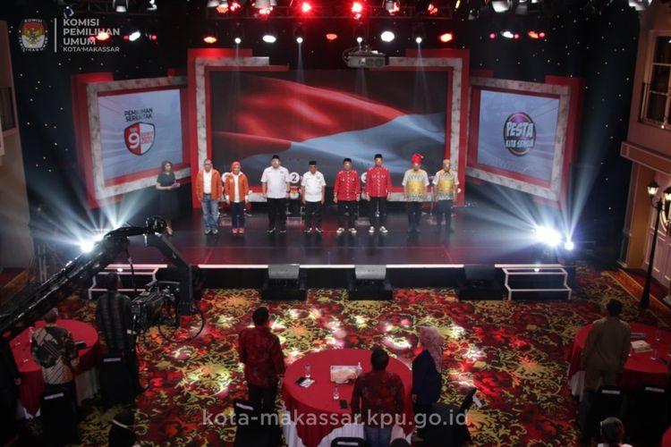 Debat kedua pemilihan Wali Kota dan Wakil Wali Kota Makassar, Selasa (25/11/2020) malam.
