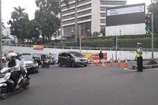 Jelang Debat Pilpres, Jalan Menuju Hotel Shangri-La Mulai Ditutup
