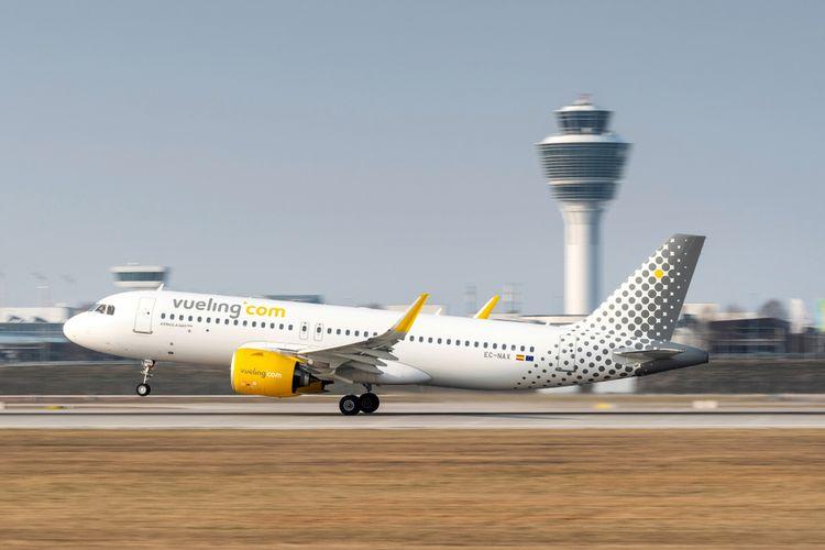Ilustrasi pesawat Vueling Airlines.