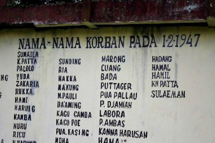 Monumen korban 40.000 jiwa di Galung lombok Tinambung Polewali Mandar, Sulawesi Barat.