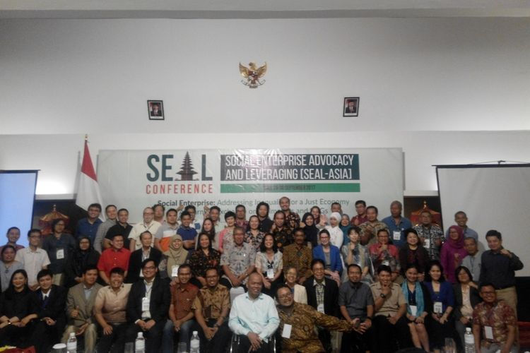Social Enterprise Advocacy and Leveraging (SEAL-ASIA) di H Sovereign Hotel, Bali, Rabu (27/9/2017).