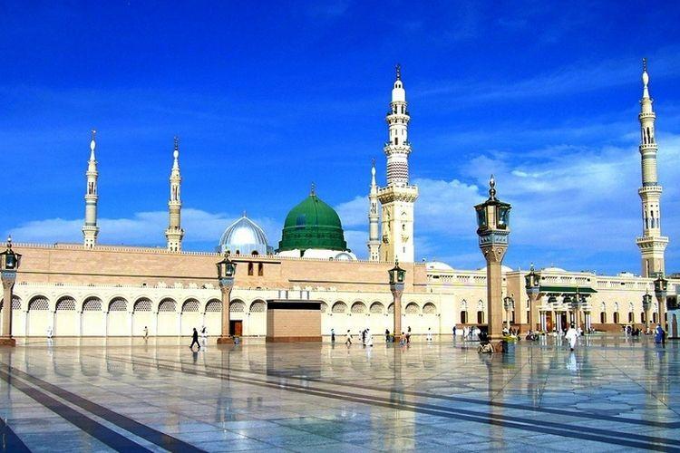 Masjid Nabawi, Madinah, Arab Saudi.