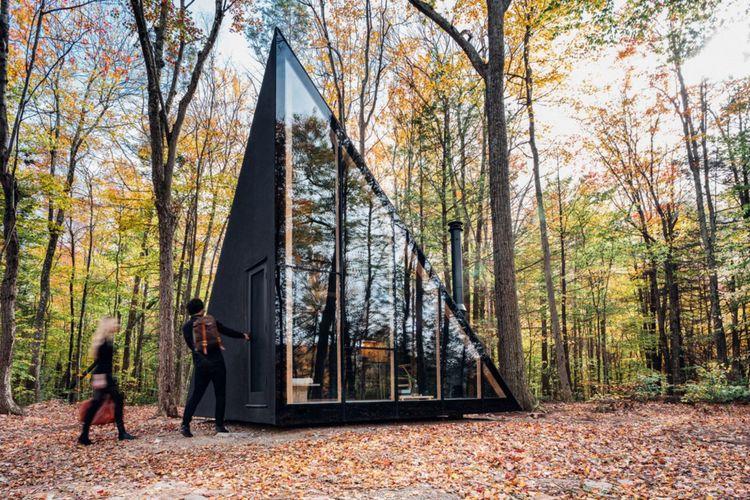 Black small cabin