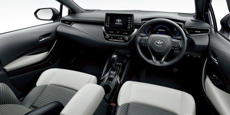 Tampilan interior Toyota Corolla Touring