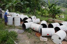 Polisi Amankan 39 Drum Limbah Beracun dari Lahan Perkebunan di Bogor