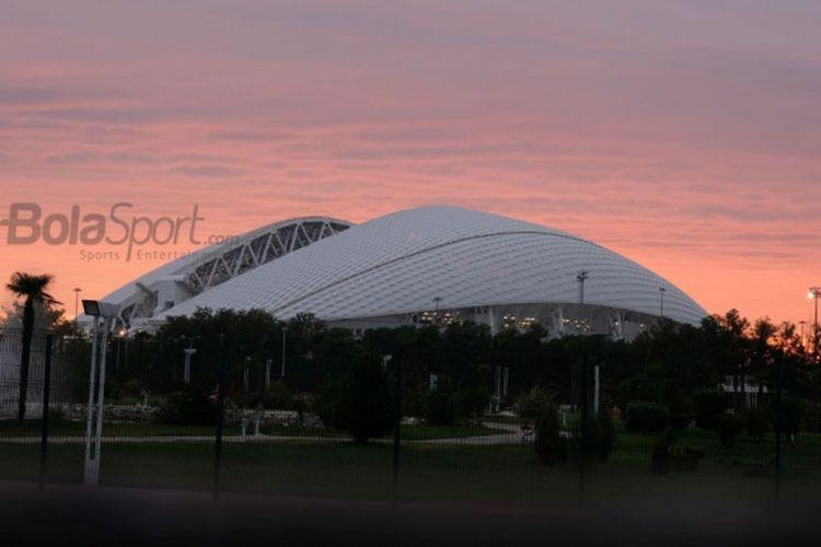 Stadion Olimpik Fisht yang menjadi arena pertandingan Piala Dunia 2018 serta venue Olimpiade Musim Dingin 2014.