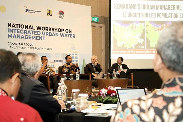 Wali Kota Semarang, Hendrar saat menghadiri Forum World Bank (Bank Dunia) yang diselenggarakan di Double Tree Hotel, Jakarta, Senin (28/1/2019).
