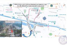 Ada Pengerjaan LRT, Jalan HR Rasuna Said Ditutup hingga Mei 2020