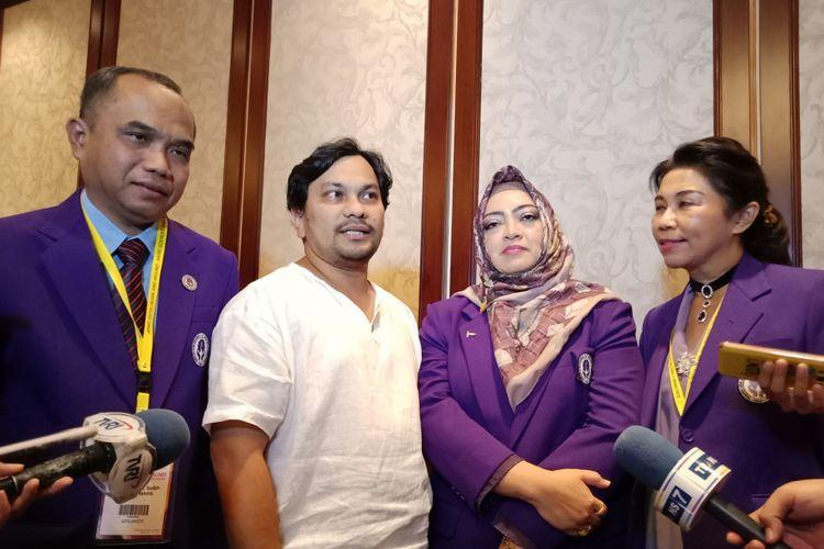 Para Dokter Spesialis Bedah Plastik Budiman,  Teuku Adifitrian atau Tompi, Donna Savitry, dan Irena Sakura Rini (paling kiri ke kanan) seusai paparan PERAPI di Hotel Shangri La Jakarta, Sabtu (10/3/2018).