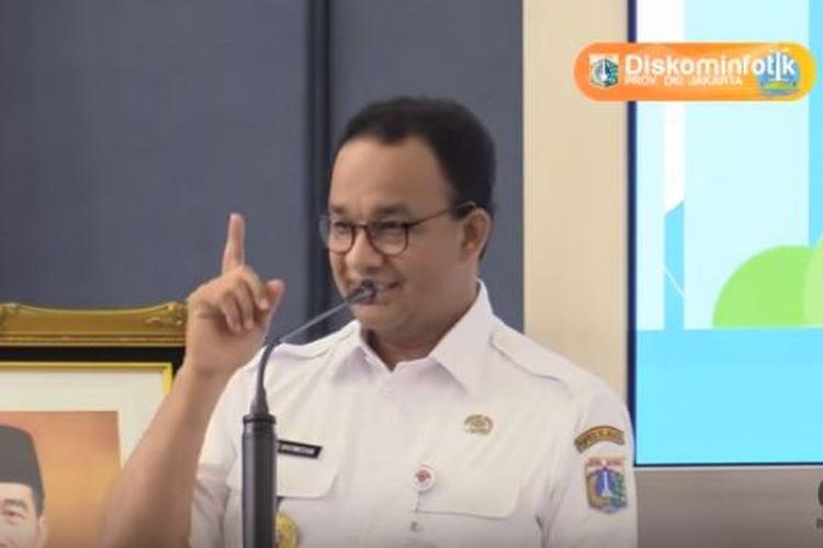 Gubernur DKI Jakarta Anies Baswedan saat menegur anak buahnya terkait anggaran-anggaran bernilai fantastis yang tak masuk akal dalam rancangan APBD DKI Jakarta 2020.