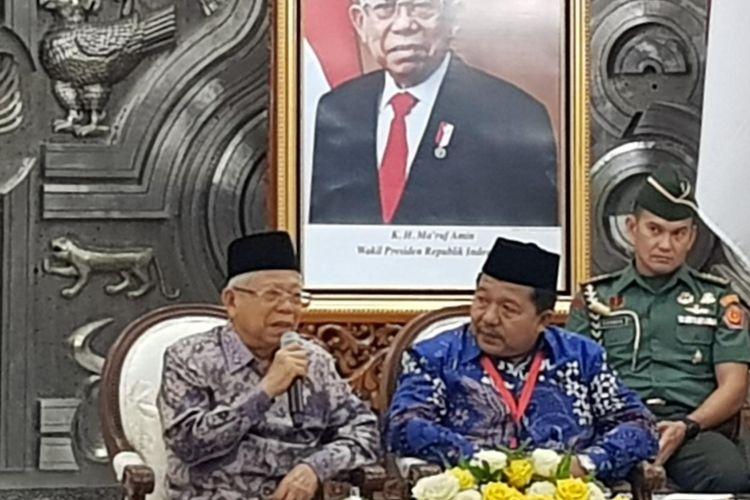 Wakil Presiden Maruf Amin saat menerima pengurus APHESI di Istana Wakil Presiden, Jalan Medan Merdeka Utara, Jakarta Pusat, Senin (25/11/2019).
