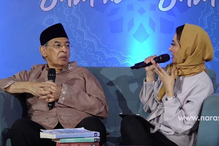 Quraish Shihab dan Najwa Shihab saat membahas KB.