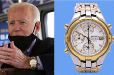 Intip Koleksi Arloji Joe Biden, Harga Seiko-nya Mengagetkan