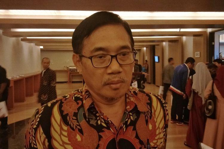 Pelaksana tugas (Plt) Kepala Badan Pembinaan Ideologi Pancasila (BPIP) Hariyono saat ditemui di Hotel Santika, Banyuwangi, Jawa Timur, Sabtu (30/11/2019).