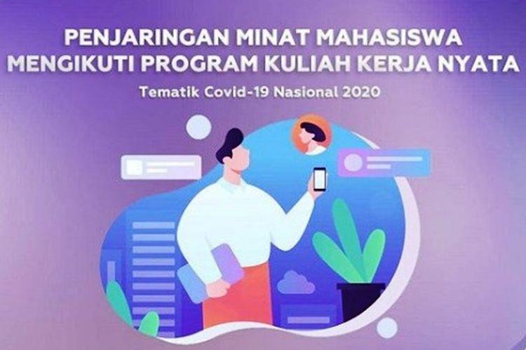 Info KKN Tematik Covid-19 Nasional 2020 dari Ditjen Dikti.
