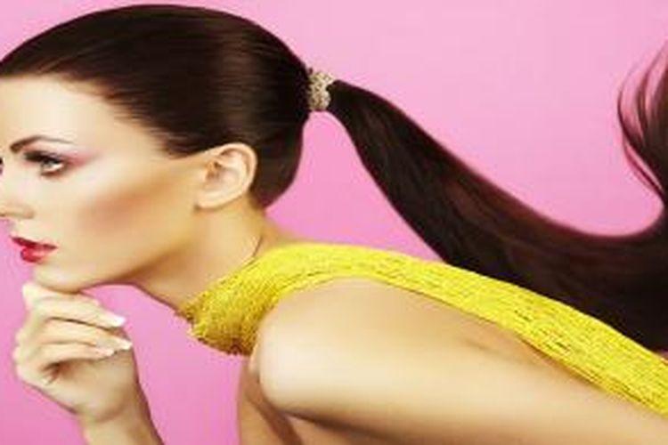Ilustrasi rambut panjang