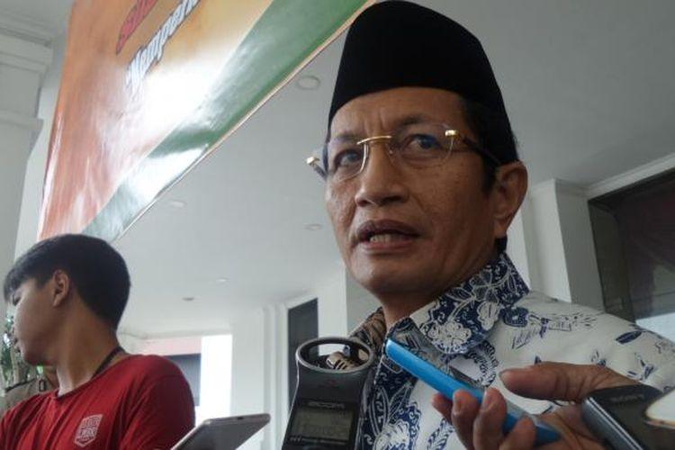 Imam besar Masjid Istiqlal Nasaruddin Umat di kompleks PTIK, Jakarta, Selasa (31/1/2017).