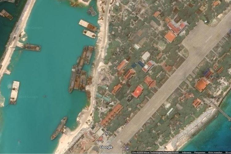 Salah satu pulau di Kepulauan Spartly di Laut China Selatan