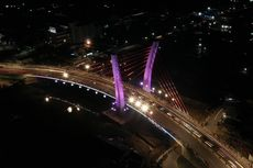 Teknologi Lighting Jembatan Sei Alalak, Fokus Terangi Pylon