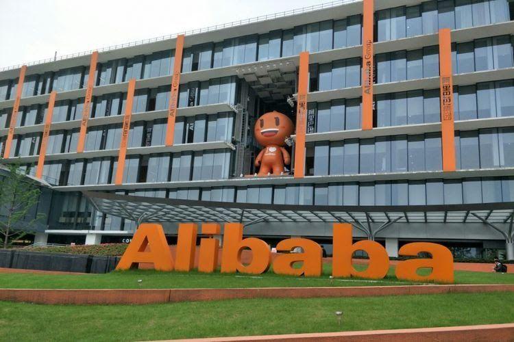 Gedung Utama Alibaba Campus di distrik Xixi, Hangzhou, China.