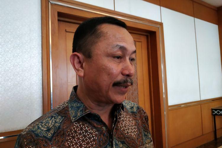 Ketua Komnas-HAM, Ahmad Taufan Damanik, di Grand Sahid Jaya, Sudirman, Jakarta Pusat, Jumat (15/11/2019)