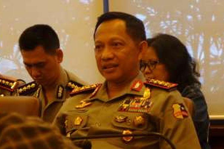 Kapolri Jenderal Pol Tito Karnavian saat berkunjung ke Kantor Kompas, Palmerah, Jakarta, Kamis (18/8/2016)