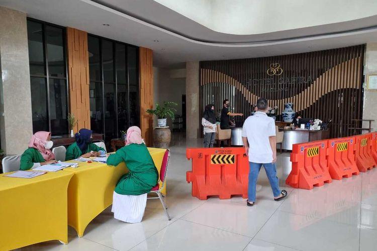 Situasi Hotel Safira Magelang yang difungsikan untuk karantina pasien Covid-19 tanpa gejala, Senin (21/6/2021).