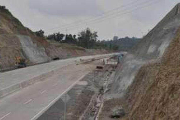 Perkembangan pembangunan Jalan Tol Manado-Bitung Kamis (13/10/2016).