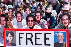 Aksi Demo Massa Anti-kudeta Militer Myanmar