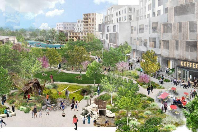 Ilustrasi kawasan komplek kampus Google yang diperbarui